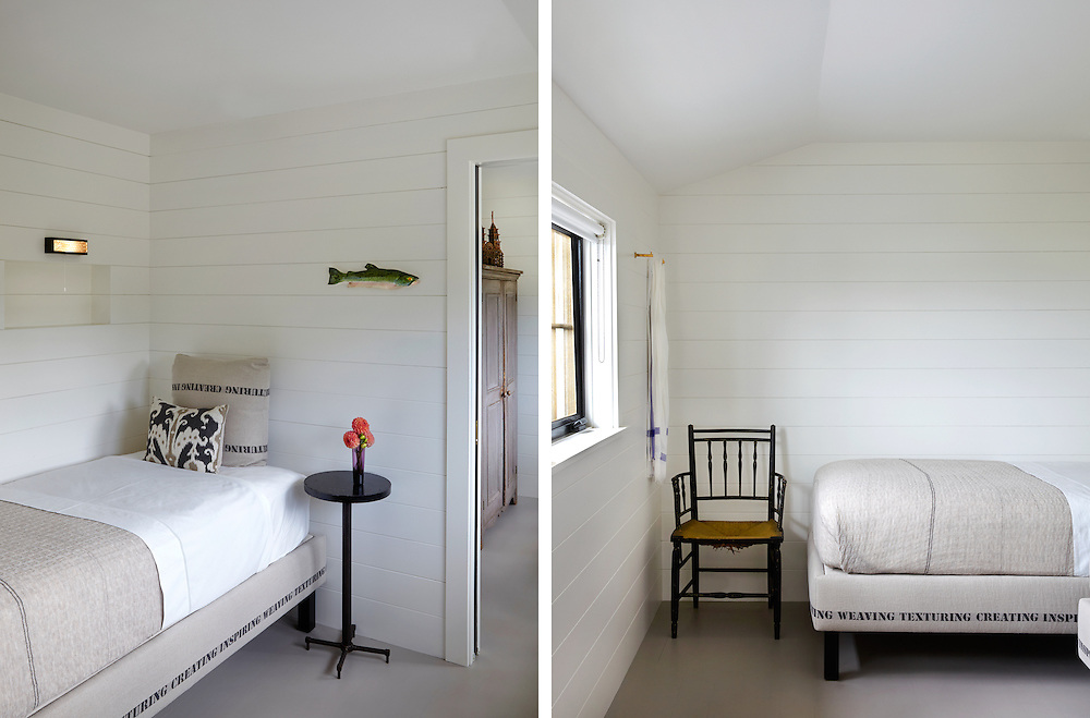 Guest bedroom of Rhode Island coastal home