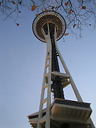 Space Needle taken from ground level in November 2005.
