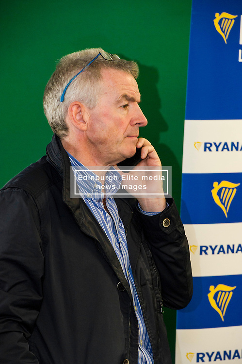 Pictured: Michael O'Leary<br /> Ryanair chief executive Michael O'Leary was on a whistle stop tour of Scotland to announce new routes from 2017. After visiting Glasgow he head to the capital to speak to the media. It was fair to say that he is no fan of the Brexit vote.<br /> <br /> Ger Harley | EEm Date