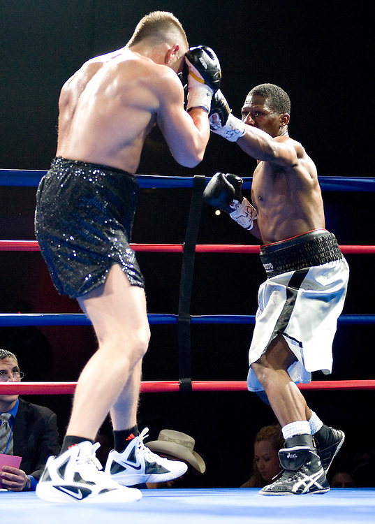 Bill Hutchinson boxing at Mountaineer Casino, West Virginia. Saturday April 6, 2013. ..by Jack Megaw