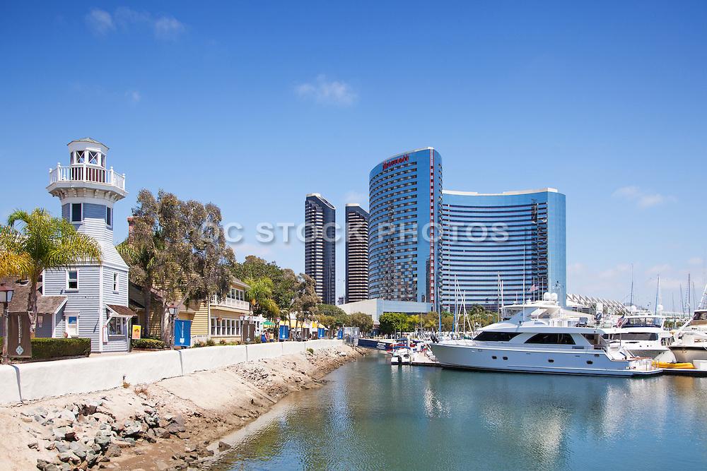 Embarcadero Marina and the Marriott Marquis