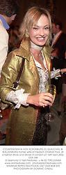 COUNTESS MAYA VON SCHONBURG ZU GLAUCHAU & WALDENBURG former wife of Friedrich Christian Flick, at a fashion show and dinner in London on 16th April 2002.OZA 346