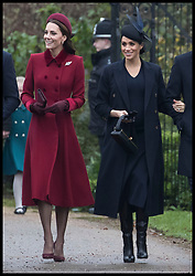 December 25, 2018 - Sandringham, London, United Kingdom - Image licensed to i-Images Picture Agency. 25/12/2018. Sandringham , United Kingdom. Royals arriving for the  Christmas Day church service at Sandringham in Norfolk, United Kingdom. (Credit Image: © Stephen Lock/i-Images via ZUMA Press)