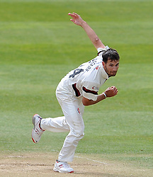 Somerset's Lewis Gregory - Photo mandatory by-line: Harry Trump/JMP - Mobile: 07966 386802 - 29/04/15 - SPORT - CRICKET - LVCC Division One - County Championship - Somerset v Middlesex - Day 4 - The County Ground, Taunton, England.