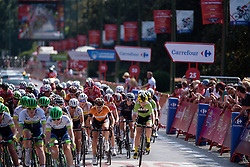 One lap to go at Madrid Challenge by La Vuelta an 87km road race in Madrid, Spain on 11th September 2016.