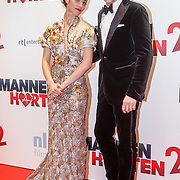 NLD/Amsterdam/20151214 - Film premiere Mannenharten 2,  Liliana de Vries en Daan Schuurman