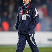 Fenerbahce's coach Christoph DAUM during their Turkish superleague soccer derby match Galatasaray between Fenerbahce at the AliSamiYen Stadium at Mecidiyekoy in Istanbul Turkey on Sunday, 28 March 2010. Photo by Aykut AKICI/TURKPIX