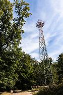 signal mast, transmission mast on Telegraphen hill in the Wahner Heath, it serves the air traffic control of Cologne-Bonn Airport, Troisdorf, North Rhine-Westphalia, Germany.<br /> <br /> Signalmast, Sendemast auf dem Telegraphenberg, er dient der Flugsicherung des Flughafens Koeln-Bonn, Troisdorf, Nordrhein-Westfalen, Deutschland.