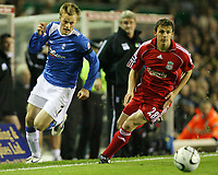 Photo: Rich Eaton.<br /> <br /> Birmingham City v Liverpool. Carling Cup. 08/11/2006. Sebastien Larsson left of Birmingham gets past Stephen Warnock of Liverpool