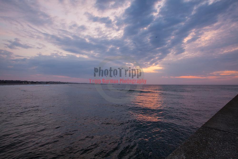 Today's  sunrise  at Narragansett Town Beach, Narragansett, RI,  April  8, 2013.