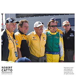 Walter Wilmott;Emerson Fittipaldi at the A1 Grand Prix of New Zealand at the Taupo Motorsport Park, Taupo, New Zealand.