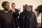 DAVID A BAILEY,  SIR NICHOLAS SEROTA; ISAAC JULIEN;  Diaspora Pavilion LAUNCH  Palazzo Pisani and Santa Marina. Venice Biennale, 11 May 2017