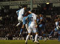 Photo: Tony Oudot.<br /> Tottenham Hotspur v Aston Villa. The FA Barclays Premiership. 01/10/2007.<br /> Dimitar Berbatov of Tottenham scores from a header