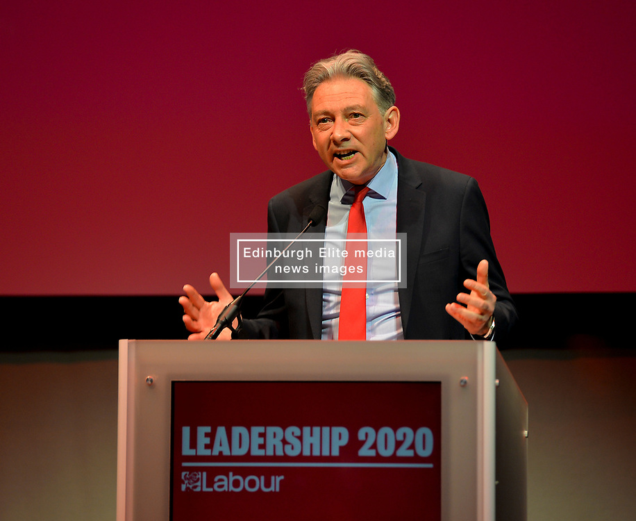 Pictured: Scottish Labour leader Richard Leonard opens the hustings.<br /> <br /> Candidates in the race to be the new Labour leader took part in a hustings in Glasgow on Saturday.<br /> <br /> © Dave Johnston / EEm