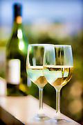 Photographic art of wine glasses