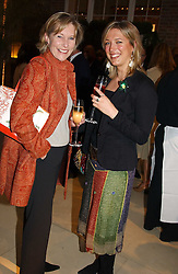 Left to right, LADY TOLLEMACHE and MISS KATHERINE PALMER-TOMKINSON  at a party to celebrate the publication of 'Last Voyage of The Valentina' by Santa Montefiore at Asprey, 169 New Bond Street, London W1 on 12th April 2005.<br /><br />NON EXCLUSIVE - WORLD RIGHTS