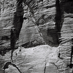 Detail of a rock in Zion National Park, Utah