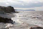 Erosional coastline with cliffs and headland, Watchet, Somerset, England