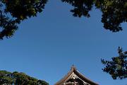 KAMAKURA, JAPAN -   H?koku-ji - Detail of the temple's roof. July 2011