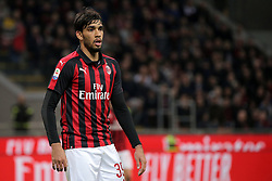 March 2, 2019 - Milan, Milan, Italy - Lucas Paqueta' #39 of AC Milan during the serie A match between AC Milan and US Sassuolo at Stadio Giuseppe Meazza on March 02, 2019 in Milan, Italy. (Credit Image: © Giuseppe Cottini/NurPhoto via ZUMA Press)