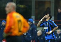 Milano 12/2/2004 Coppa Italia - Italy Cup - Semifinale <br />Inter - Juventus 2-2 (6-7 after penalties) <br />Adriano (Inter) festeggia il gol dell'1-0<br />Adriano (Inter) celebrates goal of 1-0 for Inter<br />Photo Graffiti