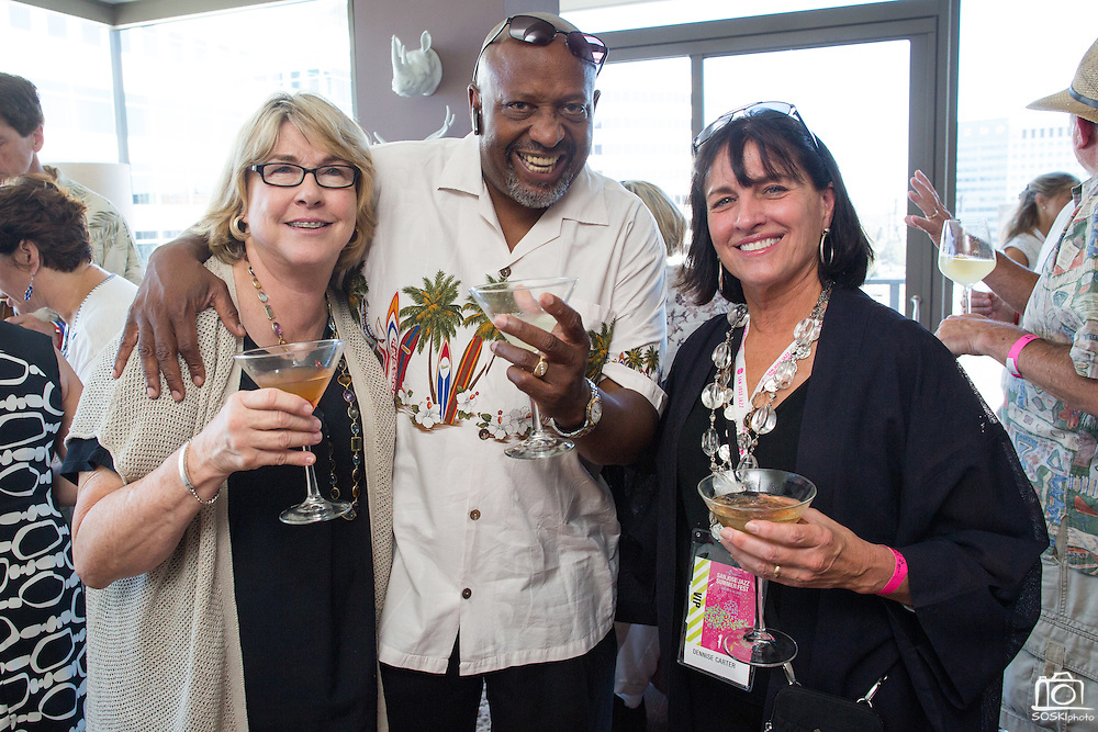 Guests attend a private San Jose Jazz party at the Axis Condos in Downtown San Jose, California, on August 9, 2014. (Stan Olszewski/SOSKIphoto)