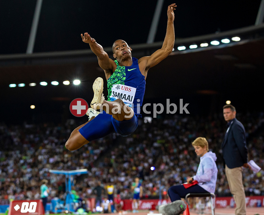 Ruswahl SAMAAI of South Africa competes in the Men's Long Jump during the Iaaf Diamond League meeting (Weltklasse Zuerich) at the Letzigrund Stadium in Zurich, Switzerland, Thursday, Aug. 29, 2019. (Photo by Patrick B. Kraemer / MAGICPBK)