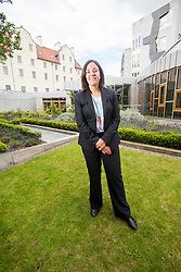 Scottish Labour's Keiza Dugdale at Scottish Parly with Matt.