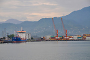 The port of Batumi, Georgia