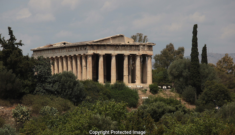The Temple of Hephaitos.  Photograph by Dennis Brack