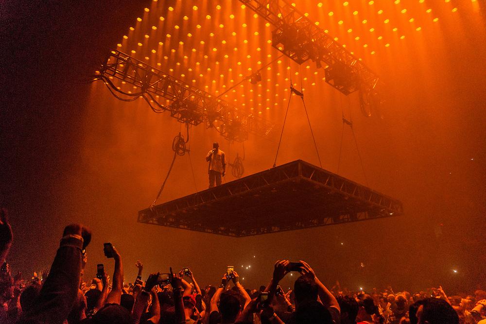 Kanye West brings his Saint Pablo Tour to the Van Andel Arena in Grand Rapids, MI on September 27, 2016.