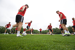 CARDIFF, WALES - Saturday, June 4, 2016: Wales' captain Ashley Williams during a training session at the Vale Resort Hotel ahead of the International Friendly match against Sweden. (Pic by David Rawcliffe/Propaganda)