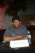 DJ Premier at The Smirnoff Press Conference announcing Music Series held at Element on February 26, 2008