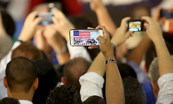 Supporters take pictures of Hillary Clinton and former Vice President Al Gore at Miami Dade College in Kendall The two discussed climate change as well as the upcoming election. Miami, FL, USA, October 11, 2016. Photo by Mike Stocker/Sun-Sentinel/TNS/ABACAPRESS.COM