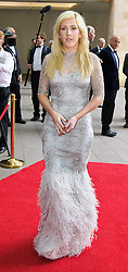 Ellie Goulding, singer arrives at the Grosvenor House Hotel<br /> Prince Harry, Patron of the Walking With The Wounded South Pole Allied Challenge, attends the charity's Crystal Ball at the Grosvenor House Hotel, central London.<br /> The event hosted by Ben Fogle, with music Ellie Goulding and The Stereophonics. Also present were Olympian Matthew Pinsent CBE and Team Glenfiddich. The team of wounded service personnel will accompany the Prince on an expedition to the South Pole later this year, London,<br /> Thursday, 30th May 2013<br /> Picture by Anthony Upton / i-Images