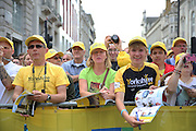 Fans during the Aviva Tour of Britain London Stage eight, Regent Street, London, United Kingdom on 13 September 2015. Photo by Phil Duncan.
