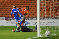 Blackpool's Armand Gnanduillet wheels away in celebration after scoring the opening goal <br /> <br /> Photographer Kevin Barnes/CameraSport<br /> <br /> The EFL Sky Bet League One - Blackpool v Gillingham - Tuesday 11th February 2020 - Bloomfield Road - Blackpool<br /> <br /> World Copyright © 2020 CameraSport. All rights reserved. 43 Linden Ave. Countesthorpe. Leicester. England. LE8 5PG - Tel: +44 (0) 116 277 4147 - admin@camerasport.com - www.camerasport.com