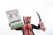 Animal Rights Activists Protest Baconpalooza