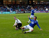 Fotball , 28. april 2012, Tippeligaen Eliteserien , Sogndal - Molde<br /> <br /> Foto: Christian Blom , Digitalsport Even Hovland, Martin Linnes (øverst) Molde. Ørjan Hopen, Sogndal