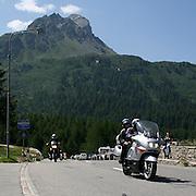 Motociclisti sul Passo Maloja..Bikers on Maloja Pass
