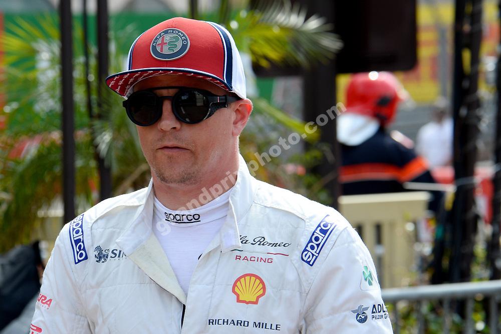 Kimi Raikkonen (Alfa Romeo-Ferrari) after qualifying for the 2019 Monaco Grand Prix. Photo: Grand Prix Photo