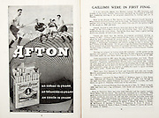 All Ireland Senior Hurling Championship Final,.07.09.1958, 09.07.1958, 7th September 1958,.Minor Galway v Limerick, .Senior Galway v Tipperary, Tipperary 4-09. Galway 2-05,..Advertisement, Afton,..Caillimh Were in First Final,