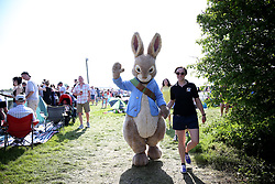 General view of Peter the Rabbit during Kids Carnival Day of The Qatar Airways May Racing Carnival at Warwick Racecourse.