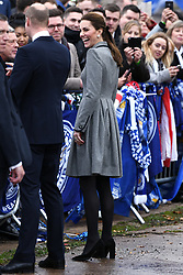 The Duke and Duchess of Cambridge visit The King Power Stadium to pay tribute to those who lost their lives in the Leicester City helicopter crash including Leicester City Chairman Vichai Srivaddhanaprabha