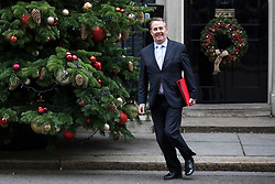 © Licensed to London News Pictures. 05/12/2017. London, UK. Secretary of State for International Trade Liam Fox leaves 10 Downing Street after the weekly Cabinet meeting. Photo credit: Rob Pinney/LNP