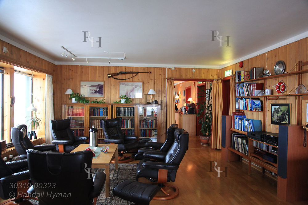 Living quarters of Bjornoya Radio complex and weather station on Bear Island, Norway.
