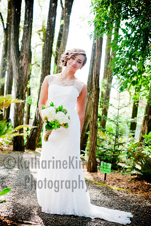 Bridal Portrait at Ainsworth House and Gardens in Oregon City, OR.