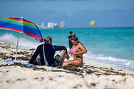 A woman seen enjoys holidays after 5 months for coronavirus lockdown, while the authorities have allowed the return of tourists to the beaches of Cancun at 60% of their capacity, following the new health protocols to prevent the spread of COVID-19 and keep the epidemiological alert in the yellow phase. (Photo by Rodolfo Flores/Speed Media)