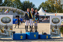 Podium BK, Verlooy Jos, Clemens Pieter, Vermeir Willem<br /> Belgisch Kampioenschap  Lanaken 2019<br /> © Hippo Foto - Dirk Caremans<br />  21/09/2019