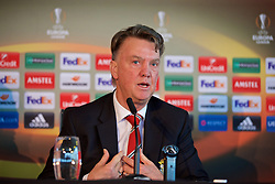 MANCHESTER, ENGLAND - Wednesday, March 9, 2016: Manchester United's manager Louis van Gaal during a press conference ahead of the UEFA Europa League Round of 16 1st Leg match against Liverpool FC. (Pic by David Rawcliffe/Propaganda)MANCHESTER, ENGLAND - Wednesday, March 9, 2016: Manchester United's manager Louis van Gaal during a press conference ahead of the UEFA Europa League Round of 16 1st Leg match against Liverpool FC. (Pic by David Rawcliffe/Propaganda)